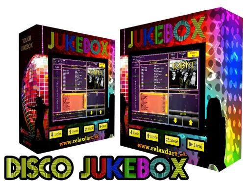 nástenný dotykový jukebox - Disco Motív