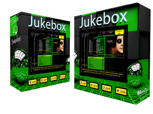 dotykový jukebox - 3d motív