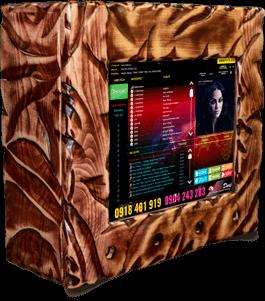 Nástenný jukebox mahagon